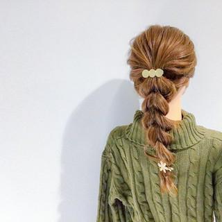 アウトドア セミロング ヘアアレンジ ショート ヘアスタイルや髪型の写真・画像