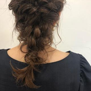 ヘアアレンジ デート 成人式 セミロング ヘアスタイルや髪型の写真・画像 ヘアスタイルや髪型の写真・画像