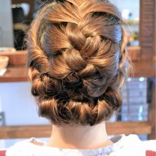 モテ髪 フェミニン 大人かわいい 三つ編み ヘアスタイルや髪型の写真・画像