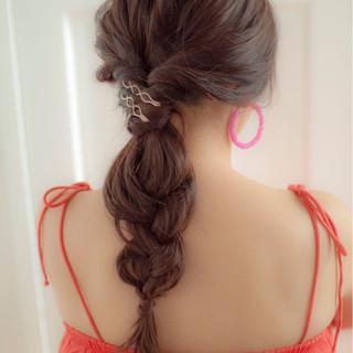 夏 ロング 大人かわいい 外国人風 ヘアスタイルや髪型の写真・画像