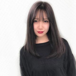 ストレート ハイライト デート 大人女子 ヘアスタイルや髪型の写真・画像