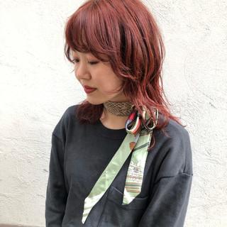 アンニュイほつれヘア ミディアム ウルフカット 外国人風カラー ヘアスタイルや髪型の写真・画像 ヘアスタイルや髪型の写真・画像