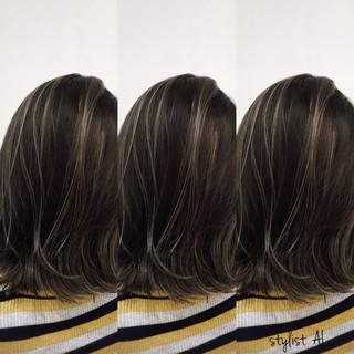 モード 秋 グレージュ イルミナカラー ヘアスタイルや髪型の写真・画像