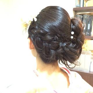 ショート セミロング 成人式 卵型 ヘアスタイルや髪型の写真・画像
