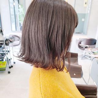 ナチュラル ミニボブ 韓国ヘア 切りっぱなしボブ ヘアスタイルや髪型の写真・画像