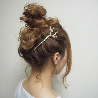 ショート ヘアアレンジ ミディアム 愛され ヘアスタイルや髪型の写真・画像