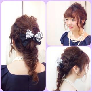 アップスタイル 簡単ヘアアレンジ モテ髪 コンサバ ヘアスタイルや髪型の写真・画像