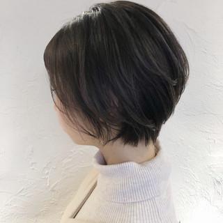 ハンサムショート 透明感カラー ショート 小顔ショート ヘアスタイルや髪型の写真・画像