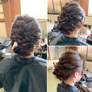 ヘアアレンジ セミロング ナチュラル 結婚式 ヘアスタイルや髪型の写真・画像 ヘアスタイルや髪型の写真・画像