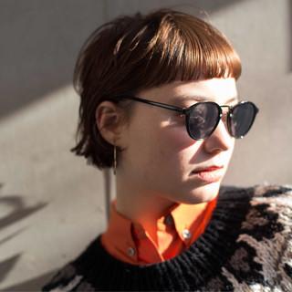 無造作パーマ ショート ウルフカット ウルフパーマ ヘアスタイルや髪型の写真・画像
