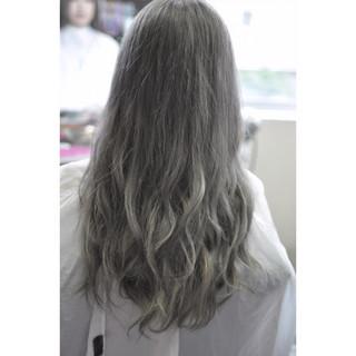 上品 外国人風カラー エレガント バレイヤージュ ヘアスタイルや髪型の写真・画像