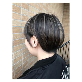 ショート モード ヘアアレンジ 簡単ヘアアレンジ ヘアスタイルや髪型の写真・画像