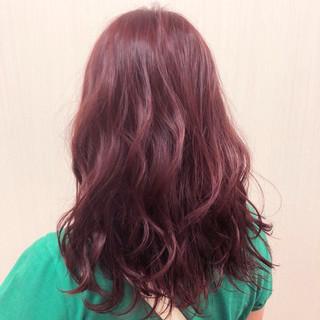 ガーリー ラベンダー レッド ベージュ ヘアスタイルや髪型の写真・画像