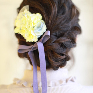 大人かわいい フェミニン ロング ヘアアレンジ ヘアスタイルや髪型の写真・画像