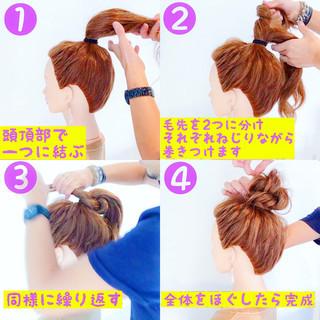 簡単ヘアアレンジ ロング 涼しげ 夏 ヘアスタイルや髪型の写真・画像