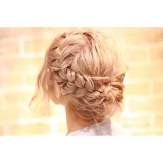 春 愛され 三つ編み コンサバ ヘアスタイルや髪型の写真・画像