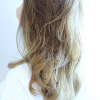 黒髪 セミロング アッシュ グラデーションカラー ヘアスタイルや髪型の写真・画像