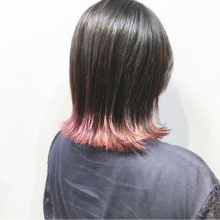 ピンクベージュ アッシュベージュ ピンクアッシュ ボブ ヘアスタイルや髪型の写真・画像