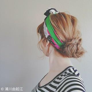 ナチュラル アウトドア ヘアアレンジ ロング ヘアスタイルや髪型の写真・画像