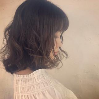 可愛い ゆるふわセット デート 透明感カラー ヘアスタイルや髪型の写真・画像