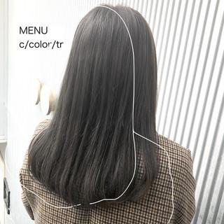 ナチュラル ストレート 髪質改善 前髪 ヘアスタイルや髪型の写真・画像