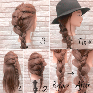 簡単ヘアアレンジ ロング エレガント 大人女子 ヘアスタイルや髪型の写真・画像