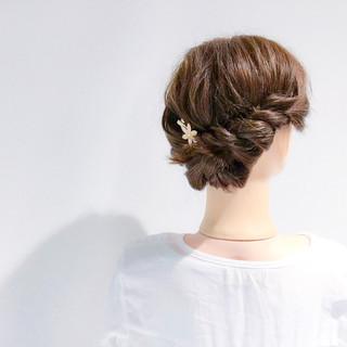 エレガント デート 結婚式 簡単ヘアアレンジ ヘアスタイルや髪型の写真・画像