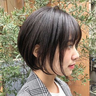 ショート ショートボブ ナチュラル モテボブ ヘアスタイルや髪型の写真・画像