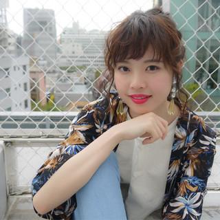 簡単ヘアアレンジ ロング 秋 ヘアアレンジ ヘアスタイルや髪型の写真・画像