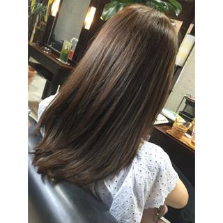 ハイライト ヘアアレンジ セミロング ナチュラル ヘアスタイルや髪型の写真・画像