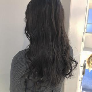 セミロング オルチャン 渋谷系 ナチュラル ヘアスタイルや髪型の写真・画像