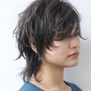 ダブルカラー ストリート ウルフカット 外国人風 ヘアスタイルや髪型の写真・画像 ヘアスタイルや髪型の写真・画像