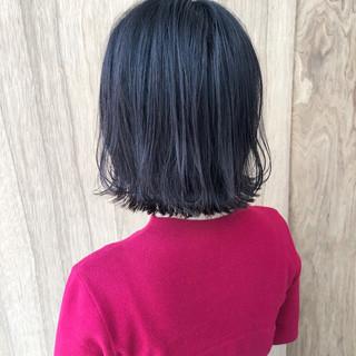 ミニボブ 外ハネボブ ボブ 切りっぱなしボブ ヘアスタイルや髪型の写真・画像 ヘアスタイルや髪型の写真・画像