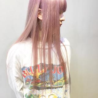 オレンジブラウン ラズベリーピンク ロング TOKIOトリートメント ヘアスタイルや髪型の写真・画像