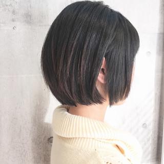 ショート オフィス ボブ デート ヘアスタイルや髪型の写真・画像 ヘアスタイルや髪型の写真・画像