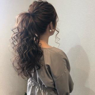 ロング アップスタイル フェミニン ヘアセット ヘアスタイルや髪型の写真・画像