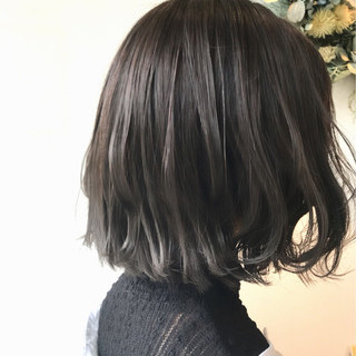 ハイライト ボブ 外国人風 ナチュラル ヘアスタイルや髪型の写真・画像 ヘアスタイルや髪型の写真・画像