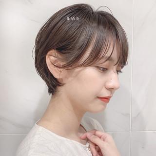 インナーカラー ベリーショート ショートボブ ショート ヘアスタイルや髪型の写真・画像