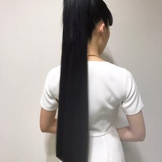 ヘアアレンジ ロング 前髪あり モード ヘアスタイルや髪型の写真・画像