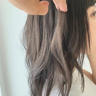 透明感 ナチュラル 大人女子 セミロング ヘアスタイルや髪型の写真・画像