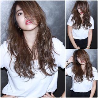 外国人風 ロング 外国人風カラー ベージュ ヘアスタイルや髪型の写真・画像