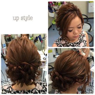 ルーズ アップスタイル セミロング 大人かわいい ヘアスタイルや髪型の写真・画像