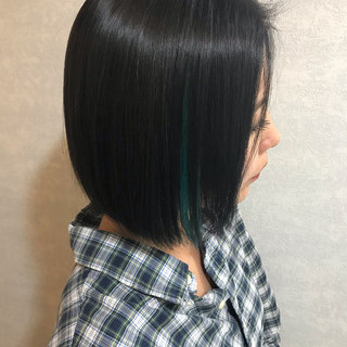 外国人風カラー 成人式 ショート インナーカラー ヘアスタイルや髪型の写真・画像