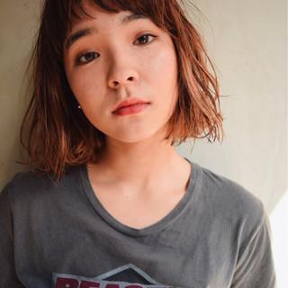大人かわいい 前髪あり 外国人風 ミディアム ヘアスタイルや髪型の写真・画像