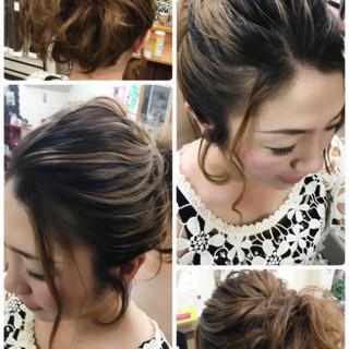 ポニーテール ルーズ ボブ 結婚式 ヘアスタイルや髪型の写真・画像 ヘアスタイルや髪型の写真・画像
