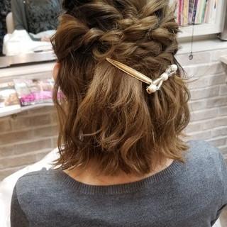 ハーフアップ 結婚式 ガーリー ヘアアレンジ ヘアスタイルや髪型の写真・画像 ヘアスタイルや髪型の写真・画像