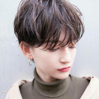 切りっぱなしボブ ショートボブ ショートヘア ベリーショート ヘアスタイルや髪型の写真・画像