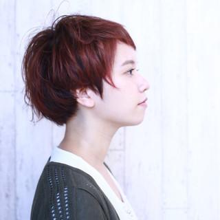 ラフ ショート ボブ 色気 ヘアスタイルや髪型の写真・画像