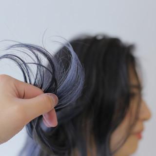 透明感カラー デザインカラー セミロング 外国人風カラー ヘアスタイルや髪型の写真・画像
