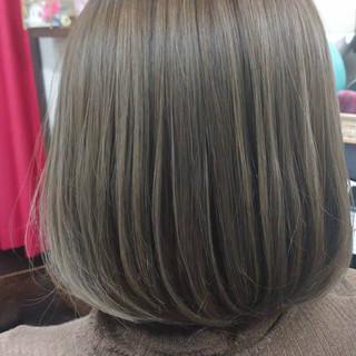 ナチュラル ボブ イルミナカラー ラベンダーグレー ヘアスタイルや髪型の写真・画像